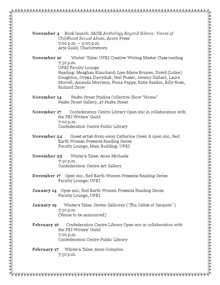 Literary Schedule 2009-2