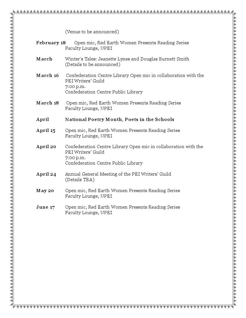 Literary Schedule 2009-3
