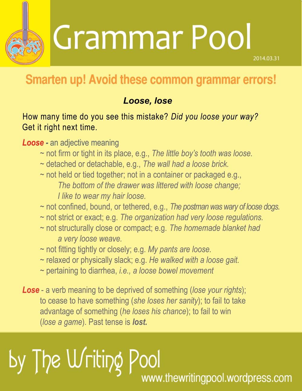 Grammar Pool 20140331